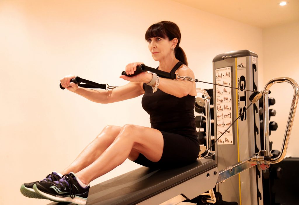 GTS Seated Chest Press (knees bent)
